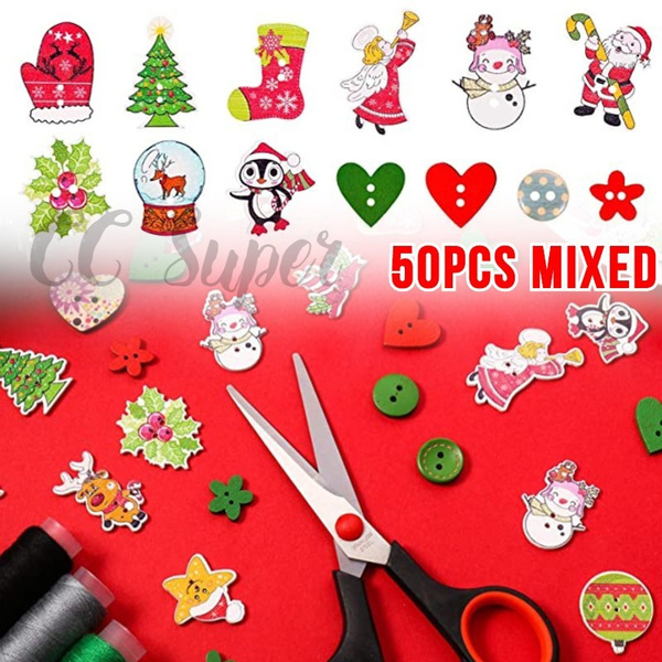 sewingbutton, Scrapbooking, Christmas, Colorful