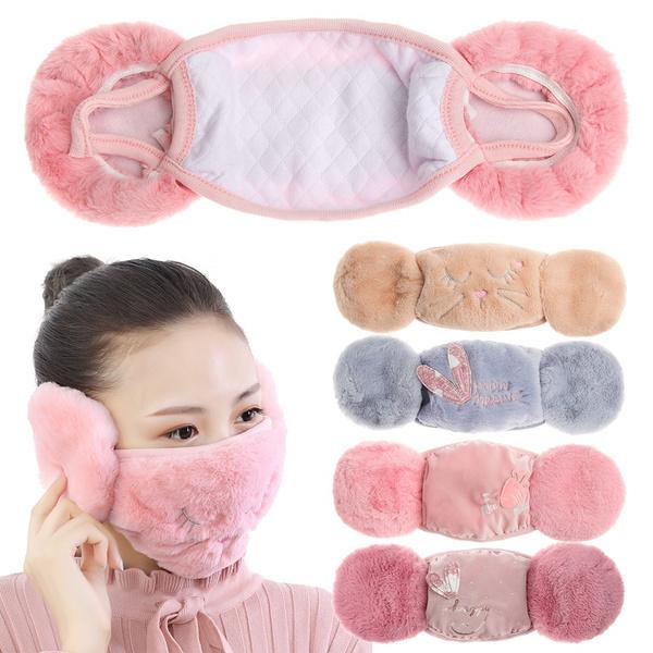 cartoonmask, winterwarmearmuff, Winter, cute