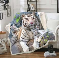 Tiger, Fleece, Fashion, Office
