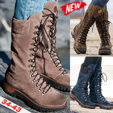 Knee High Boots, Outdoor, thickheel, Winter