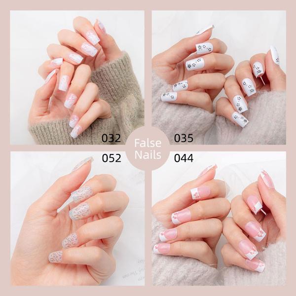 Box, Shorts, nail tips, manicure