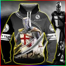 knightstemplarshirt, 3D hoodies, knightstemplar, Sleeve