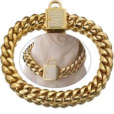 golddognecklace, gold, DIAMOND, dogcollarmetal