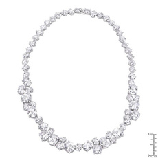 Cubic Zirconia, Jewelry, Necklace, bejeweled