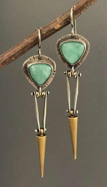 Sterling, Gemstone Earrings, gold, Stud Earring