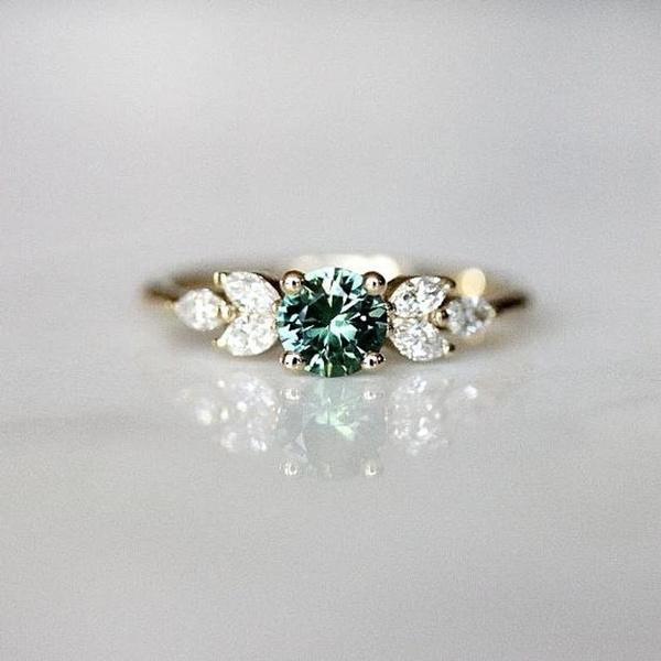 emeraldring, Sterling, Fashion, Jewelry