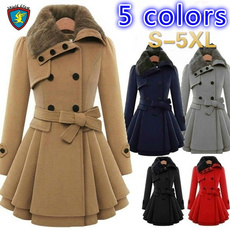 woolen, Jacket, Plus Size, fur