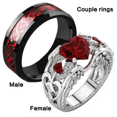 Sterling, Steel, Plus Size, wedding ring