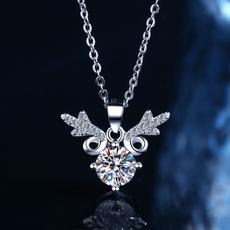 girlsnecklacegift, DIAMOND, 925 sterling silver, Jewelry