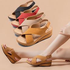 Sandals, softsolesandal, cutoutsandal, breathablesandal