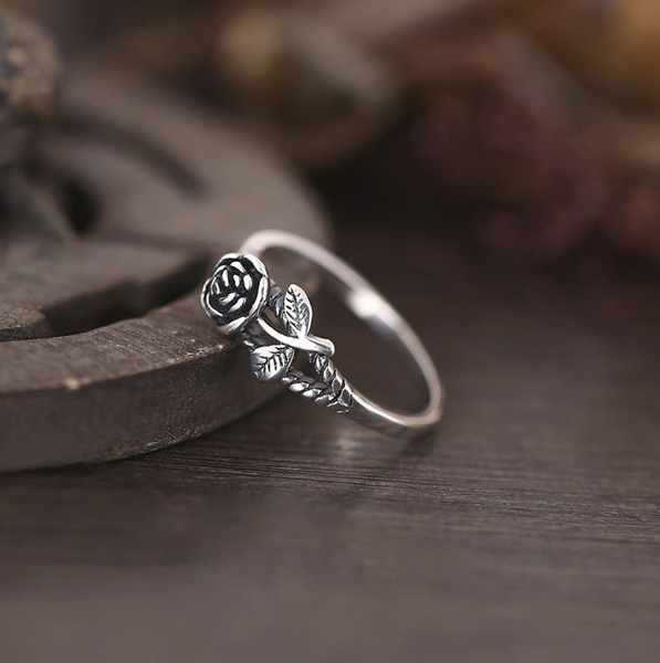 Sterling, Women, Engagement, flowerjewelry