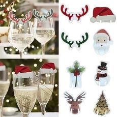 bottlecard, santahatcard, Fashion, Christmas