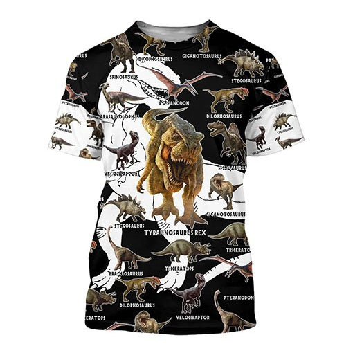 dinosaurshirt, animalshirt, kids clothes, animeprint