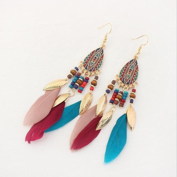 Tassels, Fashion, Dangle Earring, gold