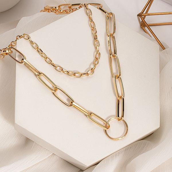 Cheap Choker Necklaces, golden, Chain Necklace, Shorts