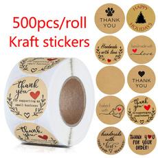 Heart, thankyoucard, Stickers, Handmade