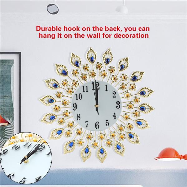 DIAMOND, Wall Clock, flowershapedwallclock, Home & Living