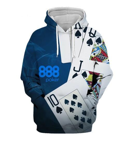 3D hoodies, Poker, Fashion, Sleeve