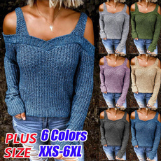 Plus Size, ladiessweater, knitted sweater, pullover sweater
