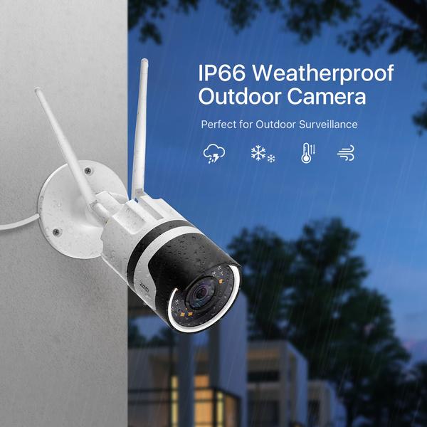 audiobidirectionnelle, iaetalerteinstantanée, 1080ph265caméra, ipwifiextérieureip66imperméable