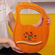 Musical Instruments, harpdulcimer, lyreharp, mahogany