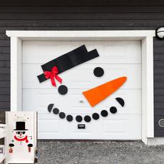 Outdoor, Door, Christmas, snowmansticker