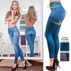 Leggings, Plus Size, Elastic, pantsforwomen