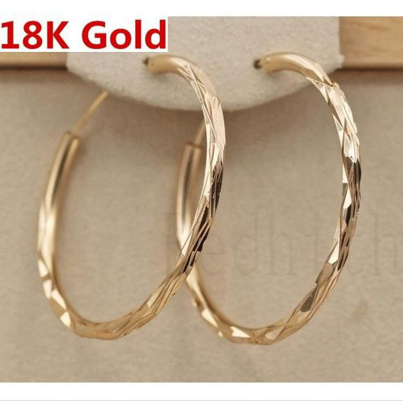 bighoopearring, yellow gold, Jewelry, gold