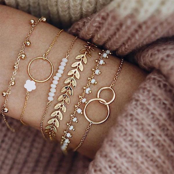 Charm Bracelet, Chain, leafbracelet, Bracelet