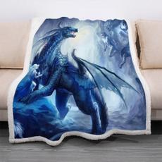 Medieval, 3ddragon, Throw Blanket, Blanket