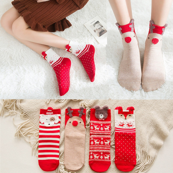 Clothing & Accessories, Cotton Socks, Christmas, cute