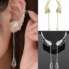 Sterling, Jewelry, Angel, Crystal