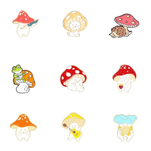 cute, mushroombrooch, Mushroom, Gifts