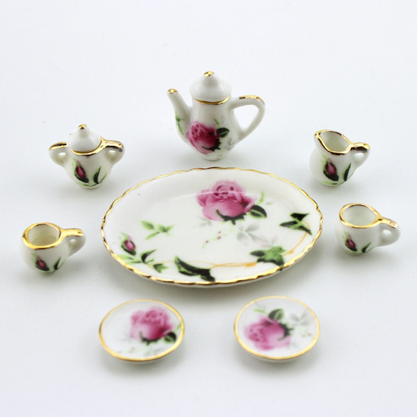 dining, Plates, Flowers, Cup