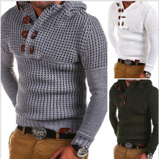 knitted, Fashion, cottonsweater, Long Sleeve