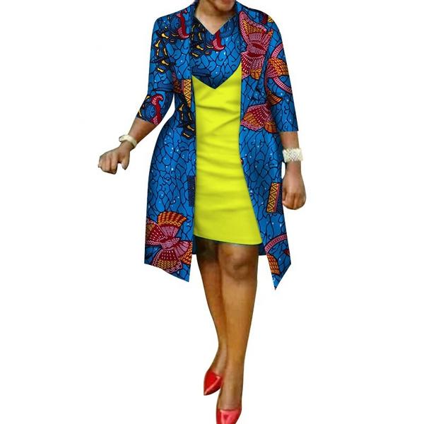 africanprint, Cotton, Plus Size, Coat