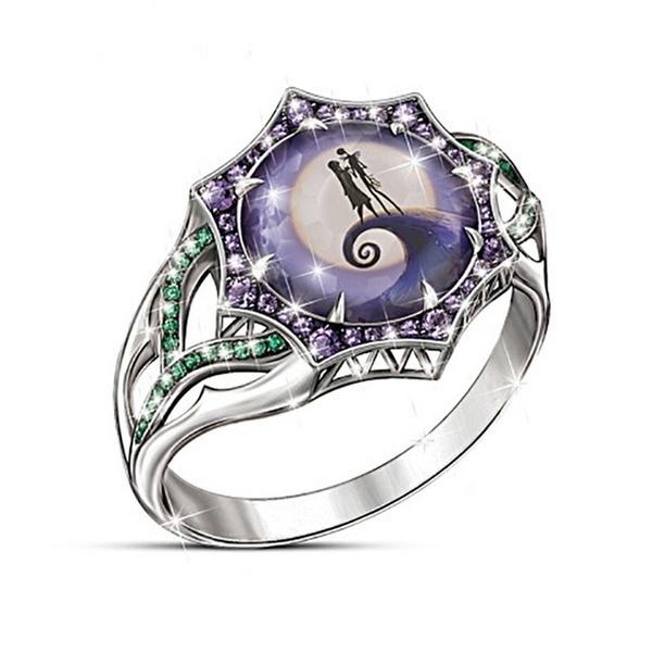 Sterling, DIAMOND, 925 silver rings, Halloween