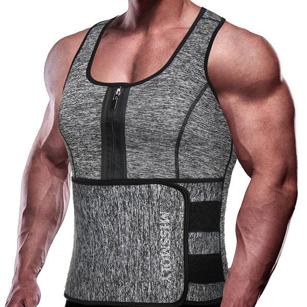 Vest, saunasweatsuit, waisttrainercorset, Fitness