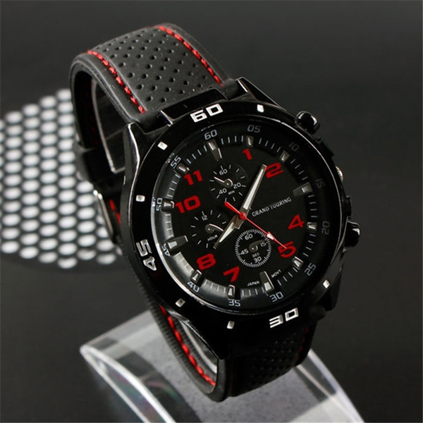 Steel, siliconebandwatch, Stainless Steel, Waterproof