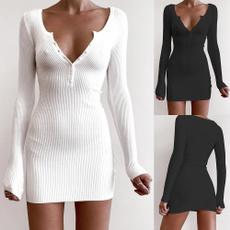 Fashion, sleeve dress, Shirt, woolendres