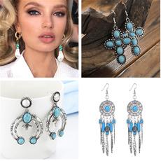 Turtle, peacock, silver earrings for women, vintage earrings