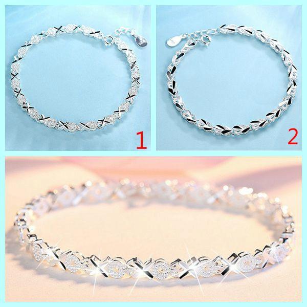 Charm Bracelet, Sterling, sterling silver bangle bracelet, Jewelry