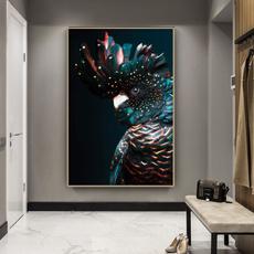 cockatoo, Wall Art, Home Decor, canvaspainting