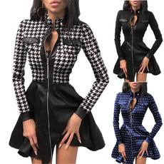 leather dress, womens dresses, sexydressesforwomen, high waist