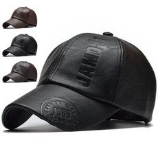 Adjustable Baseball Cap, Outdoor, Golf, PU Leather