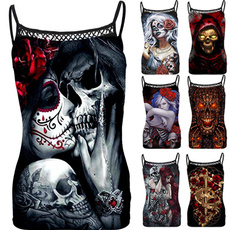 Tops & Tees, Vest, Fashion, Hollow-out