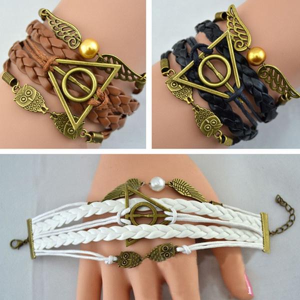 Charm Bracelet, Owl, Jewelry, golden