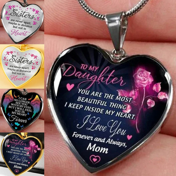 Heart, motherdaughtersnecklace, Love, Jewelry