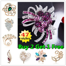 diamondbrooch, brooches, crystalbrooche, Jewelry