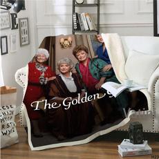 golden, Fleece, fleecethrowblanket, bedblanket